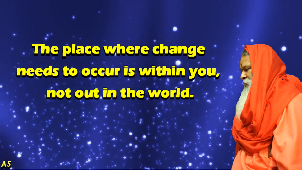 Change needs to occur within you (English) ~ June 27, 2013