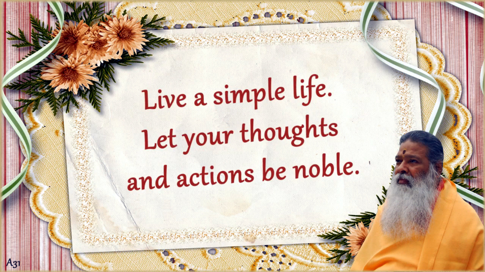 Live a simple life (English) ~ June 28, 2013