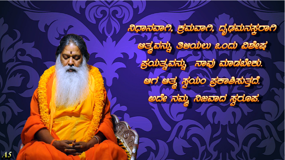 Realizing our inner self (Kannada) ~ 19 June 2013