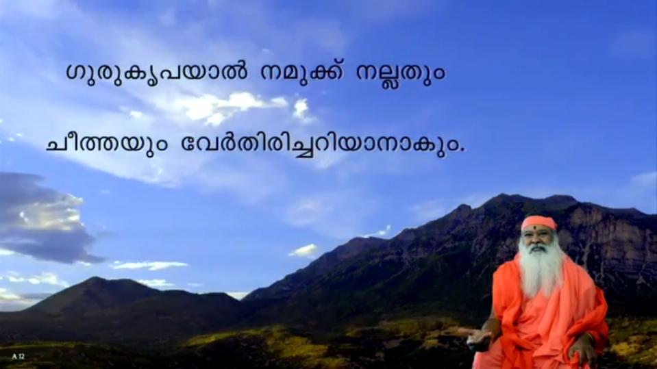 Guru's compassion guides us (Malayalam) ~ July 18, 2013
