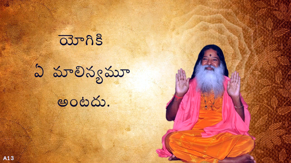 Yogi is immune to all impurities (Telugu) ~ July 1, 2013