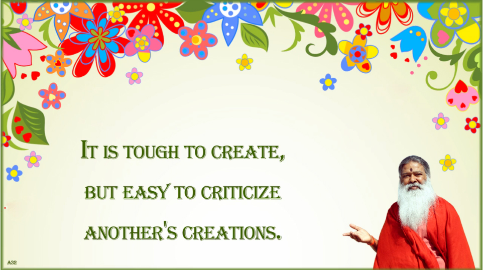 It is easy to criticize