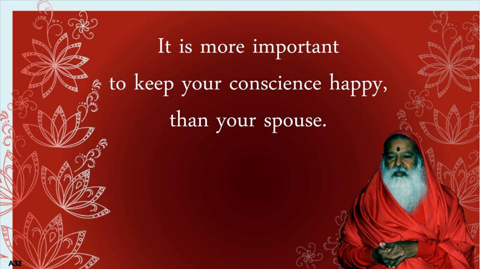 Conscience happy