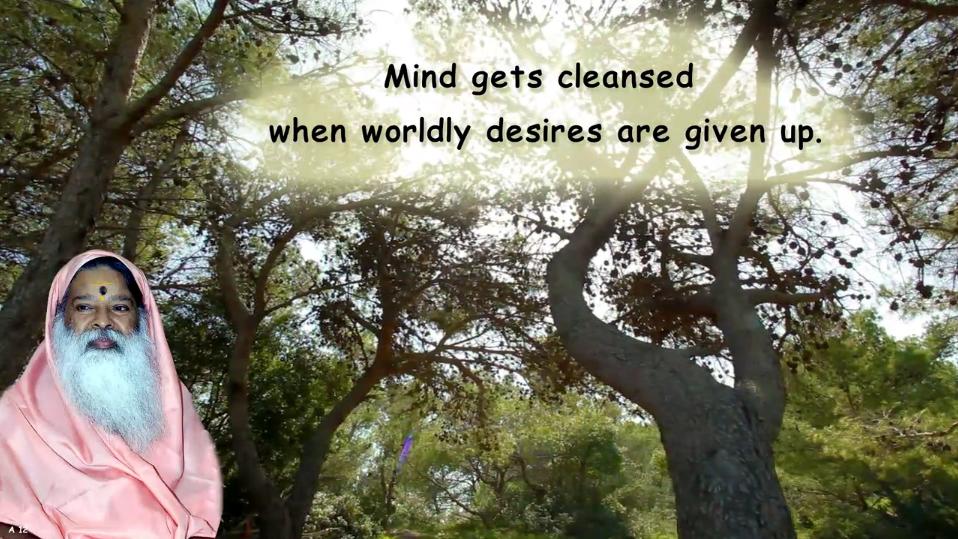 Mind gets clensed