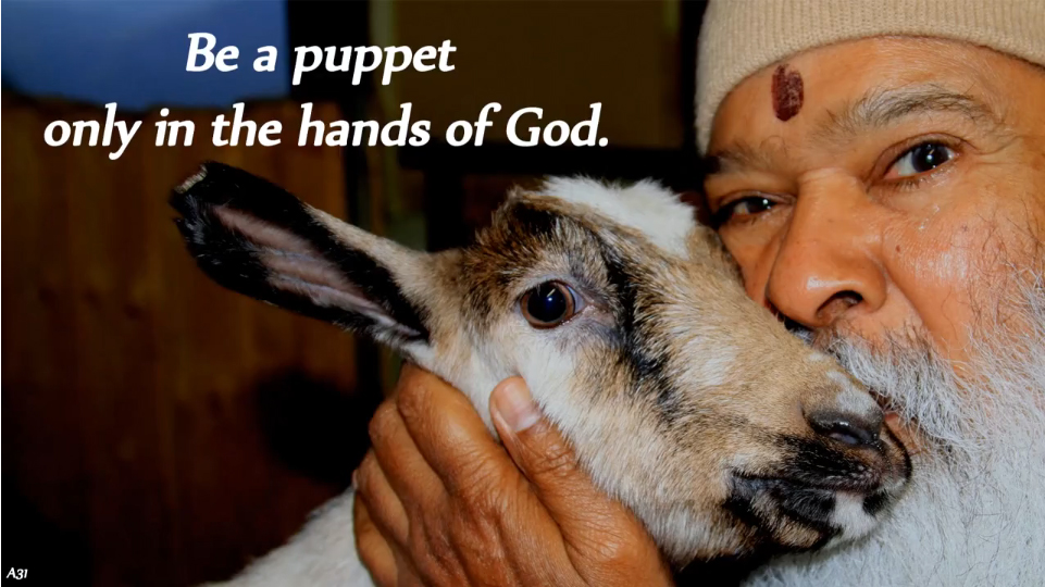 puppet in the hands of God